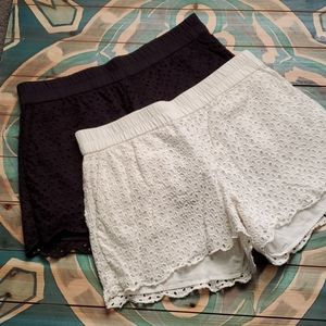 Lucky Brand set of eyelet, boho shorts